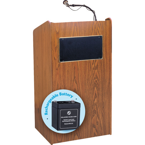 Oklahoma Sound Aristocrat Floor Sound Lectern with Rechargeable Battery