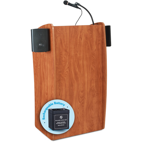 Oklahoma Sound The Vision Floor Lectern with Speakers and Rechargeable Battery