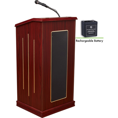 Oklahoma Sound M711-MY Prestige Floor Sound Lectern with Rechargeable Batery (Mahogany)