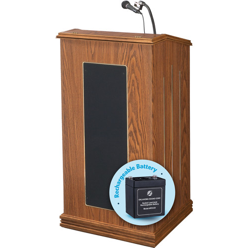 Oklahoma Sound Prestige Lectern with Rechargeable Battery