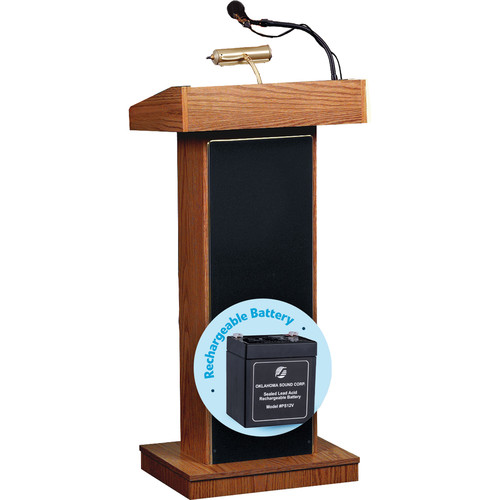 Oklahoma Sound Orator Lectern with Rechargeable Battery