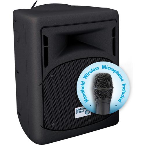 Oklahoma Sound 40W Wireless PA System with Wireless Handheld Microphone