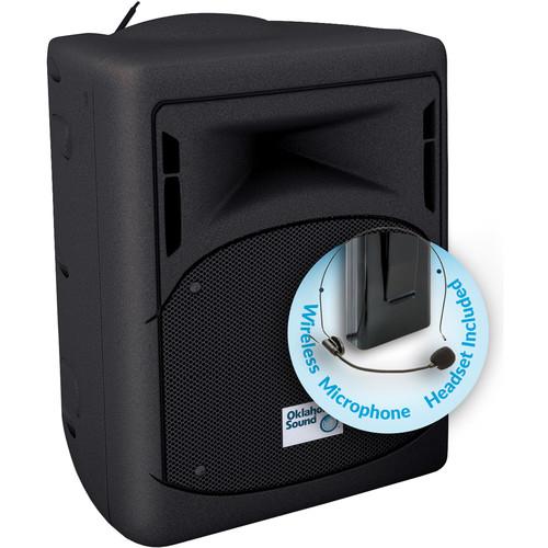 Oklahoma Sound 40W Wireless PA System with Headset Microphone