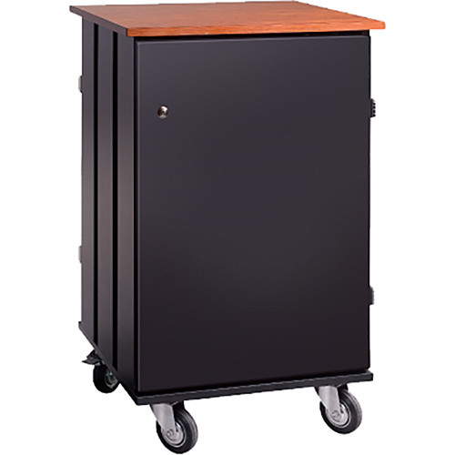 Oklahoma Sound 32-Tablet Charging & Storage Cart (Cherry/Black)