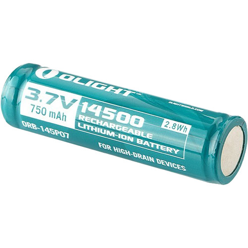 Olight 14500 Rechargeable Lithium-Ion Battery (3.7V, 750mAh)