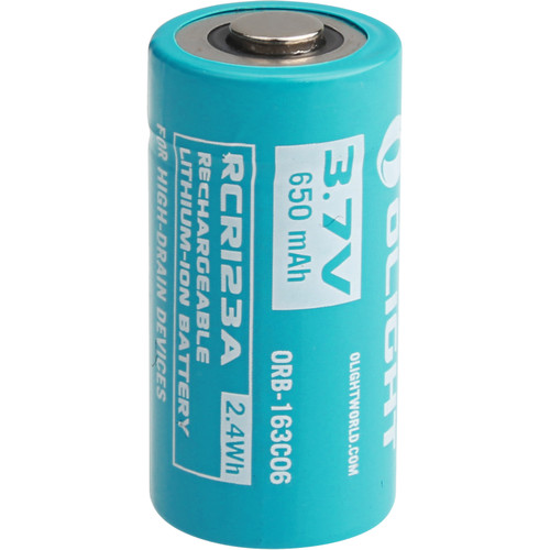 Olight Customized RCR123A Rechargeable Lithium-Ion Battery (3.7V, 650mAh)