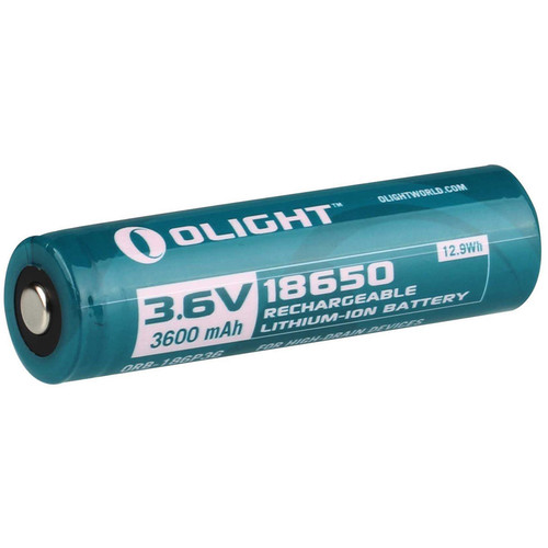 Olight Olight 18650 Li-ion Rechargeable Battery (3.6V, 3600mAh, Clamshell Packaging)