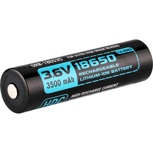 Olight HDC 18650 Rechargeable Lithium-Ion Battery for X7 Marauder Flashlight (3.6V, 3500mAh)