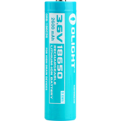 Olight Customized 18650 Rechargeable Lithium-Ion Battery (3.6V, 2600mAh)