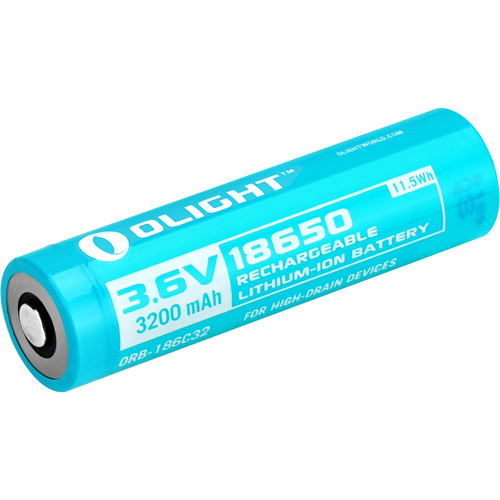 Olight Customized 18650 Rechargeable Lithium-Ion Battery (3.6V, 3200mAh)