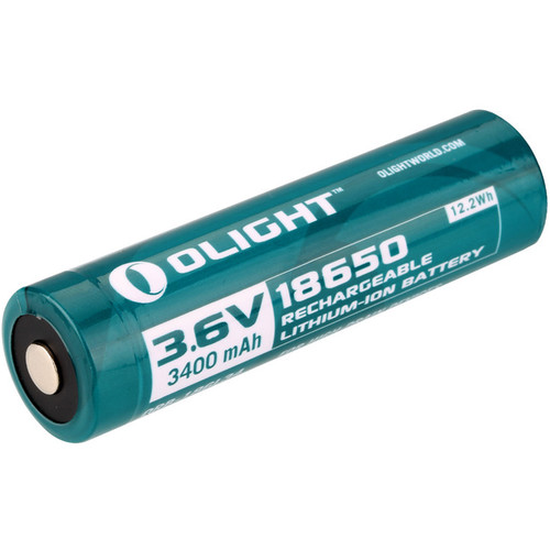 Olight 18650 Rechargeable Lithium-Ion Battery (3.6V, 3400mAh, Storage Box)