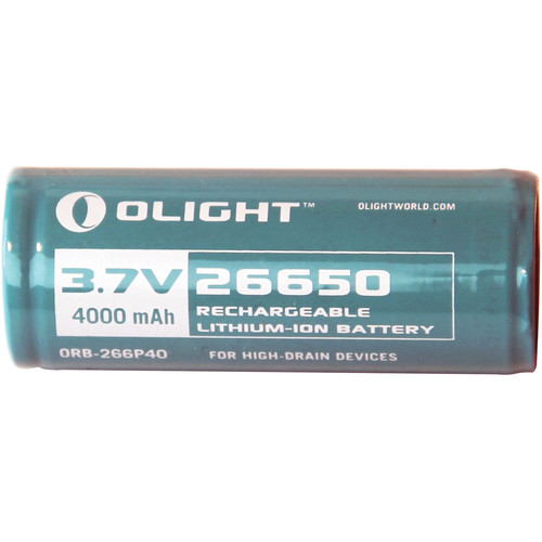 Olight 26650 Rechargeable Lithium-Ion Battery (3.7V, 4000mAh)