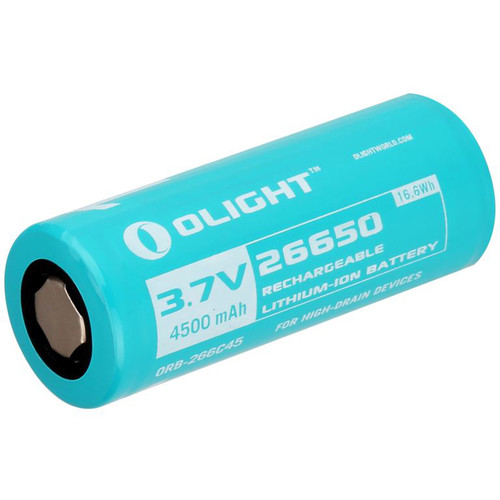 Olight 26650 Li-Ion Rechargeable Battery (3.7V, 4500mAh, 16.6Wh)