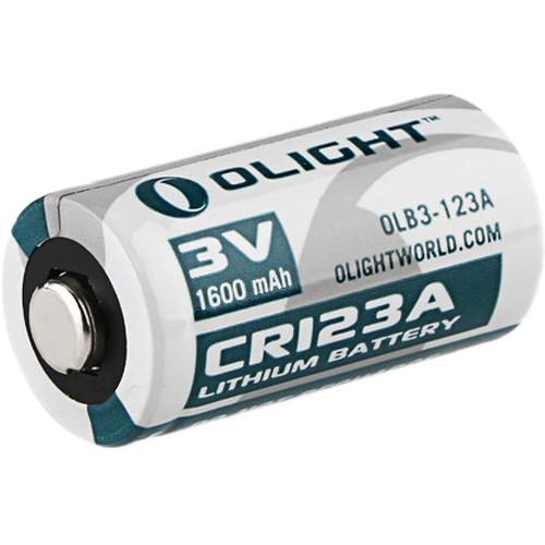 Olight CR123A Lithium Battery (3V, 1600mAh)
