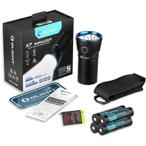Olight X7 Marauder LED Flashlight with 4 x 18650 Lithium-Ion Batteries