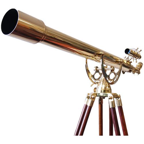 Olivon 80mm 32x Brass Refractor Telescope with Tripod