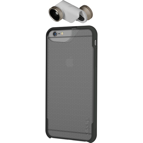 olloclip 4-in-1 Photo Lens + OLLOCASE for iPhone 6 Plus/6s Plus (Gold Lens with White Clip & Clear and Gray Case)