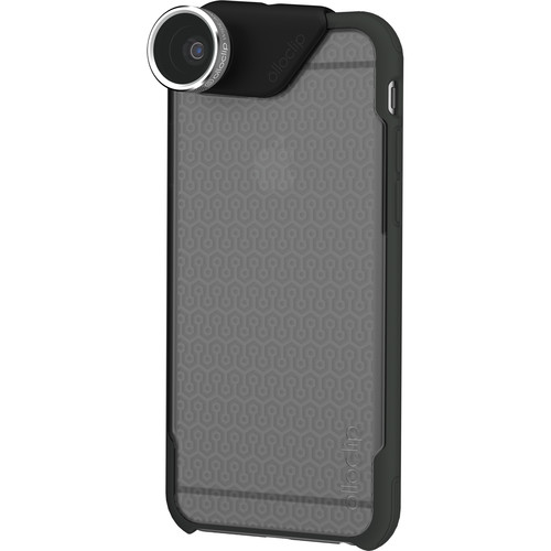 olloclip 4-in-1 Photo Lens + OLLOCASE for iPhone 6 Plus/6s Plus (Silver Lens with Black Clip & Clear and Gray Case)