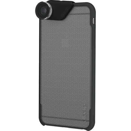 olloclip 4-in-1 Photo Lens + OLLOCASE for iPhone 6/6s (Silver Lens with Black Clip & Clear and Gray Case)