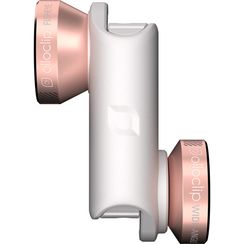 olloclip 4-in-1 Photo Lens for iPhone 6/6s/6 Plus/6s Plus (Rose Gold Lens with White Clip)