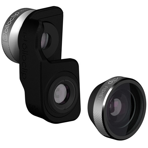 olloclip 4-in-1 Photo Lens for iPhone 5/5s/SE (Silver Lens with Black Clip)