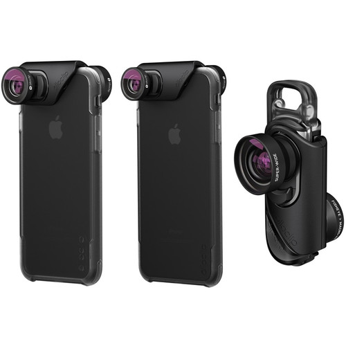 olloclip Core Lens Set with ollo Case for iPhone 7/7 Plus (Black)