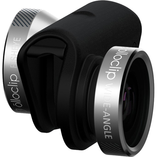 olloclip 4-in-1 Photo Lens for iPhone 6/6s/6 Plus/6s Plus (Space Gray Lens with Black Clip)
