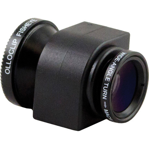 olloclip 3-in-1 Lens System for iPhone 4/4S (Black)