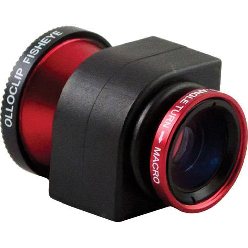 olloclip 3-in-1 Lens System for iPhone 4/4S (Red)