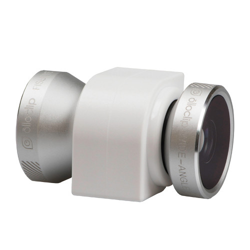 olloclip 4-in-1 Photo Lens for iPhone 4/4s (Silver Lens with White Clip)