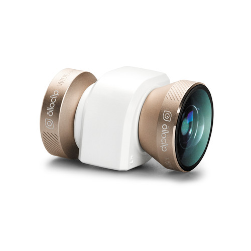 olloclip 4-in-1 Photo Lens for iPhone 5/5s/SE (Gold Lens with White Clip)