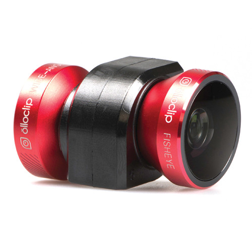 olloclip 4-in-1 Photo Lens for iPhone 5/5s (Red Lens with Black Clip)