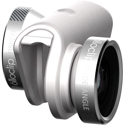 olloclip Photo Kit for iPhone 6/6s/6 Plus/6s Plus (Silver Lens with White Clip)