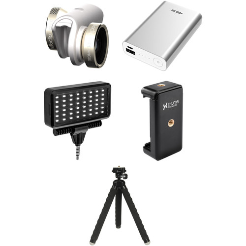 olloclip Photo Kit for iPhone 6/6s/6 Plus/6s Plus (Gold Lens with White Clip)