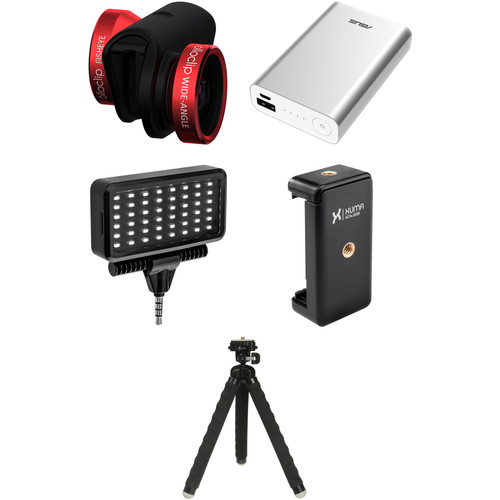 olloclip Photo Kit for iPhone 6/6s/6 Plus/6s Plus (Red Lens with Black Clip)