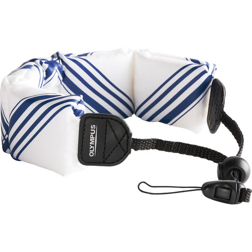 Olympus Floating Wrist Strap (White/ Blue)