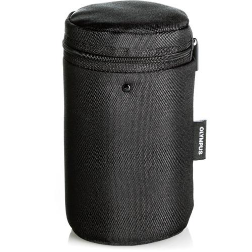 Olympus Barrel Style Lens Case for m.Zuiko Digital Lenses (Medium, Black)