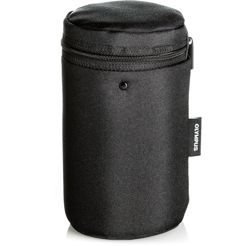 Olympus Barrel Style Lens Case for m.Zuiko Digital Lenses (Medium, Black)