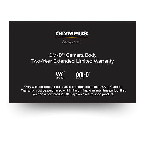Olympus OM-D Camera Body 2-Year Extended Limited Warranty