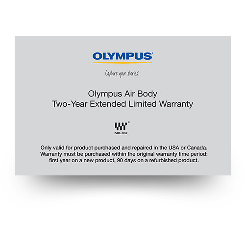 Olympus 2-Year Extended Limited Warranty for Olympus Air Smartphone Camera