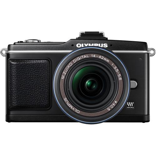 Olympus E-P2 Pen Digital Camera w/ 14-42mm Zuiko Lens (Black)