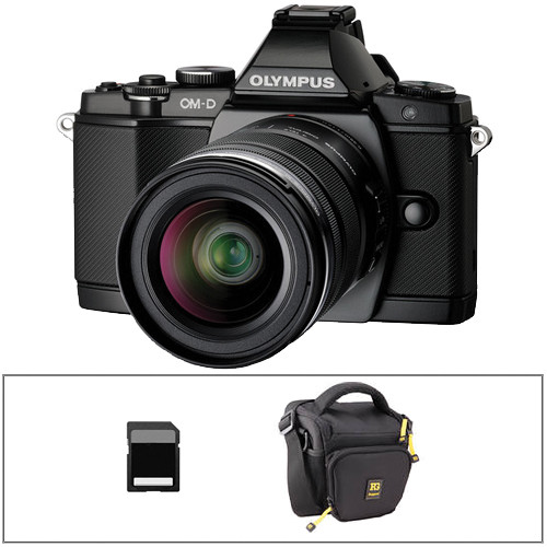 Olympus OM-D E-M5 Mirrorless Micro Four Thirds Digital Camera Basic Kit with 12-50mm Lens (Black)