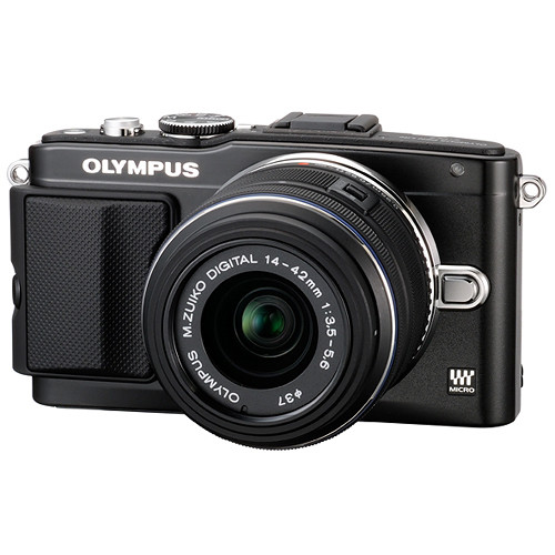 Olympus E-PL5 Mirrorless Micro Four Thirds Digital Camera with 14-42mm Lens Deluxe Kit (Black)