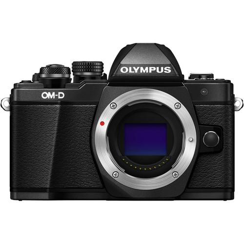Olympus OM-D E-M10 Mark II Mirrorless Micro Four Thirds Digital Camera with 12-50mm Lens Kit (Black)