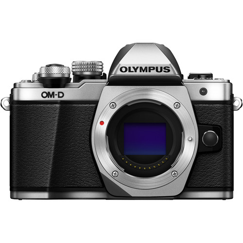 Olympus OM-D E-M10 Mark II Mirrorless Micro Four Thirds Digital Camera Body with 12-40mm Lens Kit (Silver)