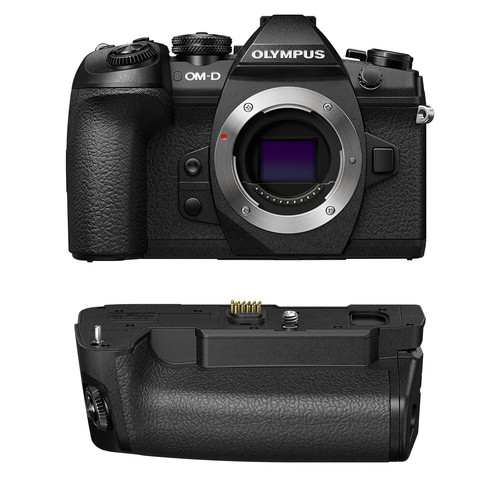 Olympus OM-D E-M1 Mark II Mirrorless Micro Four Thirds Digital Camera with Battery Grip Kit