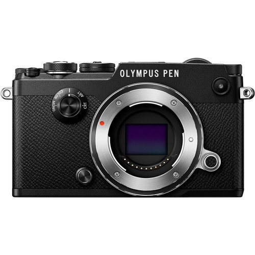 Olympus PEN-F Mirrorless Micro Four Thirds Digital Camera with 75mm f/1.8 Lens Kit (Black)