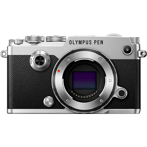 Olympus PEN-F Mirrorless Micro Four Thirds Digital Camera with 75mm f/1.8 Lens Kit (Silver)