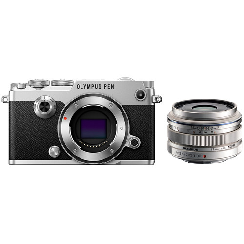 Olympus PEN-F Mirrorless Micro Four Thirds Digital Camera with 17mm Lens Kit (Silver)