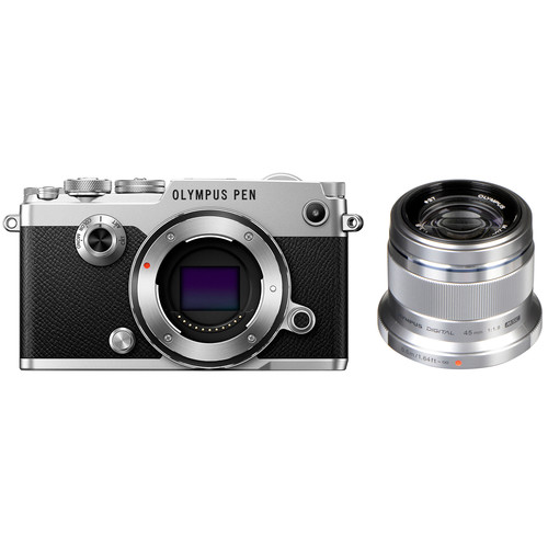 Olympus PEN-F Mirrorless Micro Four Thirds Digital Camera with 45mm Lens Kit (Silver)